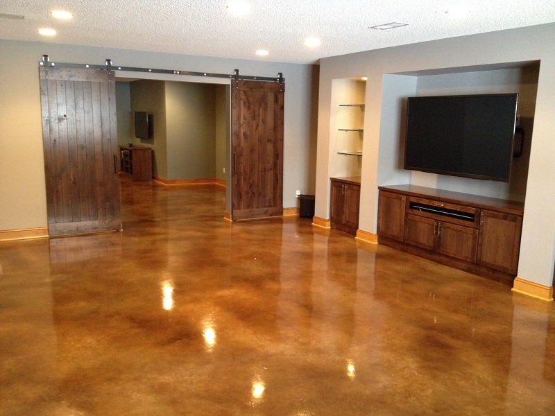 Polished concrete slabs