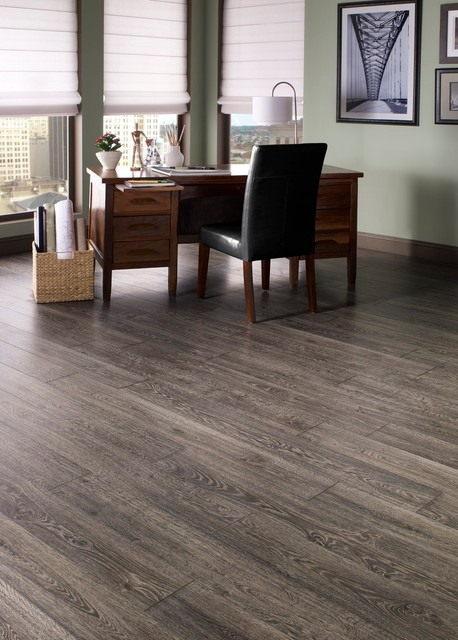 Grey laminate flooring ideas for your new home hgnv com for Flooring ideas for home office