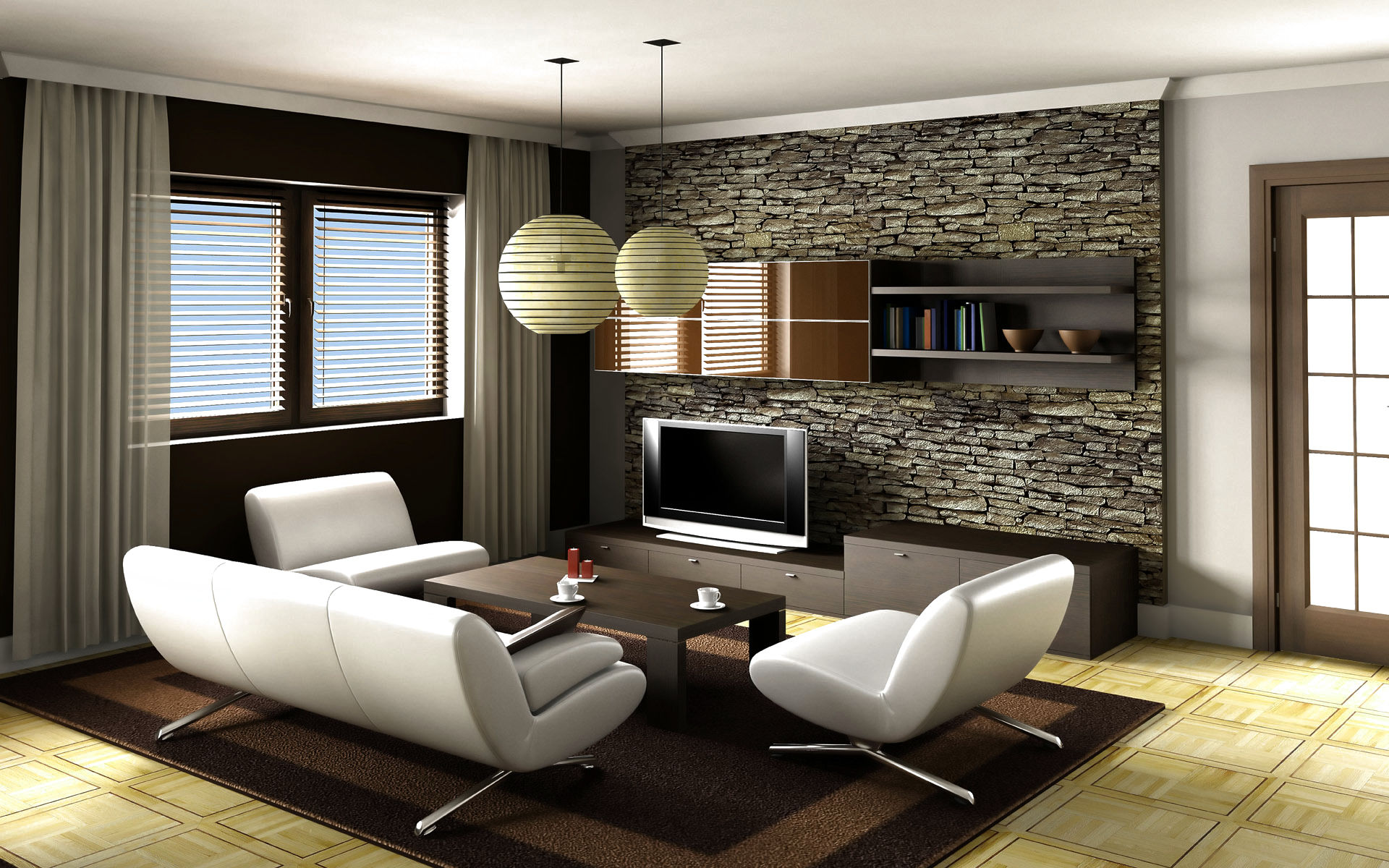 16 modern living room furniture ideas design hgnv com for Living room ideas with recliners