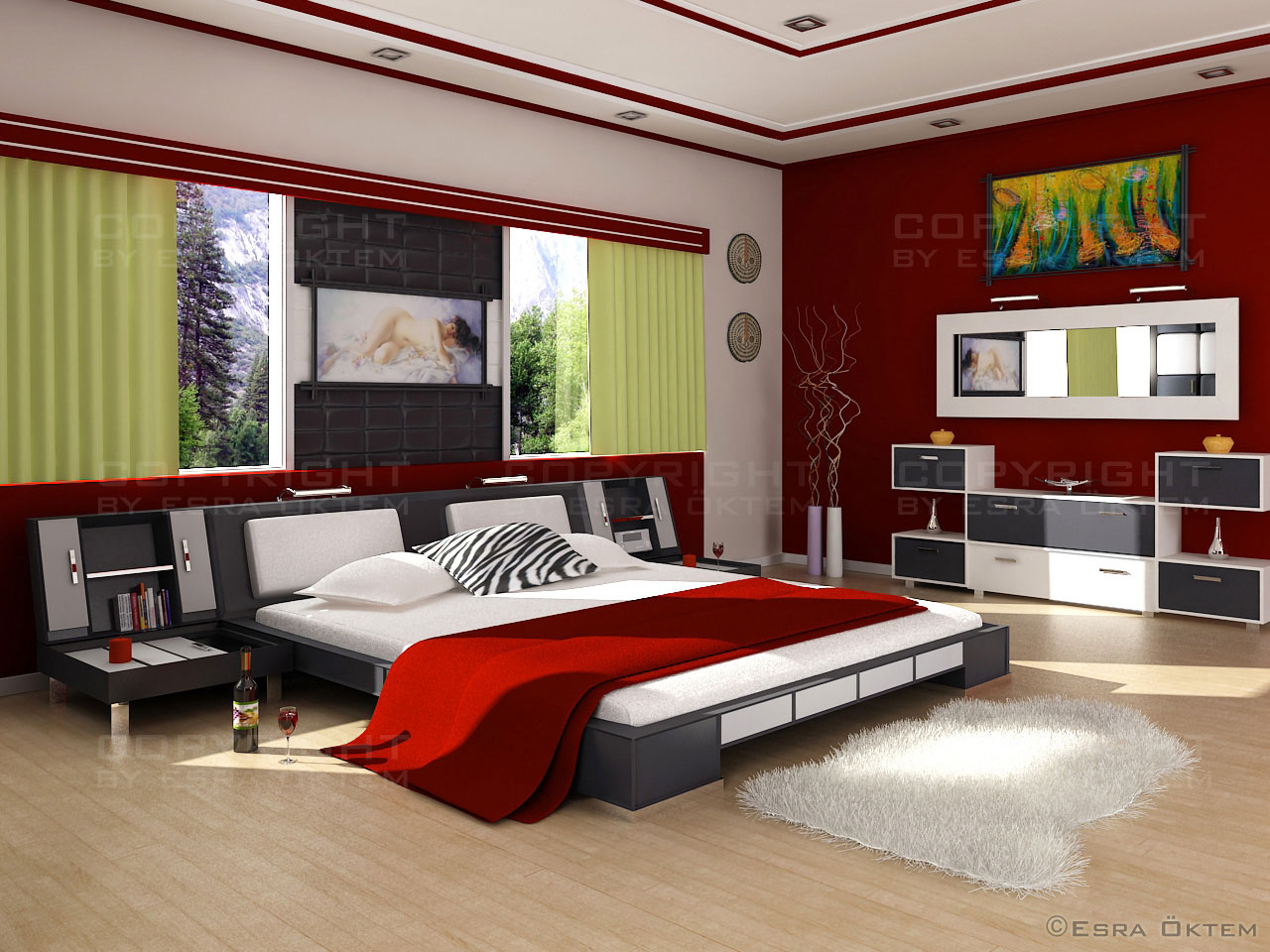 step 3 modern bedding - Tips For Decorating Bedroom