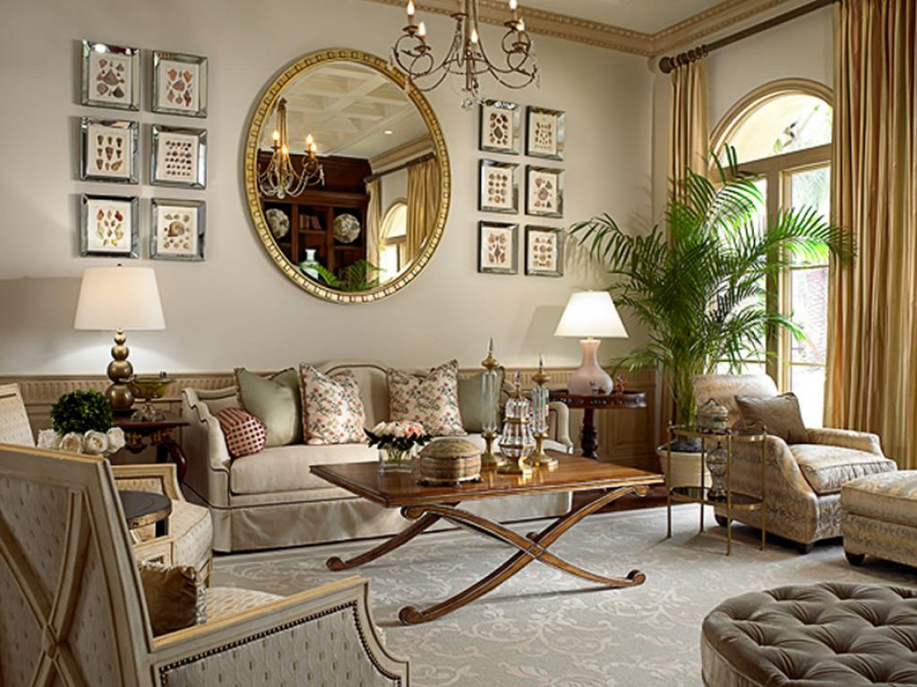 living room with mirror 26 stunning decorating with mirrors and frames hgnv 16031